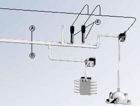 Schemazeichnung Zweileitungsanlage (konventionelle Anlage)