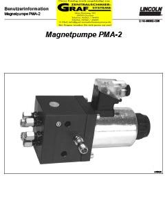 Pumpe PMA 2 - Kettenspritzschmierung