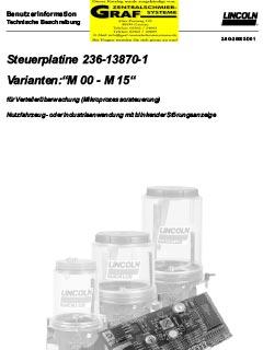 Steuerplatine M00-15 (deutsch)