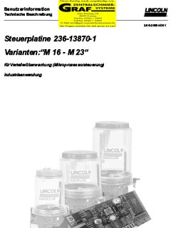 Steuerplatine M16-23 (deutsch)