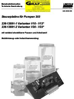 Steuerplatine V10-13 (deutsch)